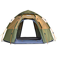 DesertFox® 8 บุคคล เต็นท์ Automatic กลางแจ้ง Lightweight กันลม กันน้ำฝน ดับเบิล นาฬิกาไขลาน (Automatic) เต็นท์แคมปิ้ง >3000 mm สำหรับ ชายหาด แคมป์ปิ้ง / การปีนเขา / เที่ยวถ้ำ Picnic