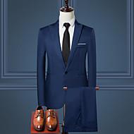 זול -בגדי ריקוד גברים יין כחול בהיר חאקי XL XXL XXXL חליפות אחיד / שרוול ארוך / עבודה
