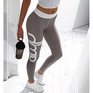 Dam Dagligen Sexig Sportig Leggings - Enfärgad / Geometrisk, Tryck Hög midja / Smal
