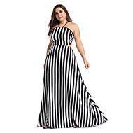 Жен. Богемный Обтягивающие С летящей юбкой Платье С принтом Завышенная Хальтер Макси