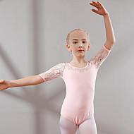 בגדי ריקוד לילדים / בלט בגדי גוף בנות הדרכה / הצגה כותנה תחרה שרוולים קצרים טבעי / סרבל תינוקותבגד גוף