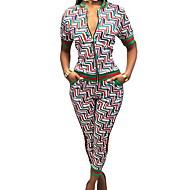 Mulheres Conjunto Geométrica Calça / Vestidos