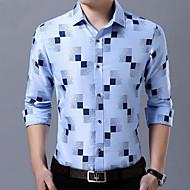 男性用 シャツ 幾何学模様 ネイビーブルー XXL