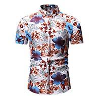 남성용 플로럴 셔츠 푸른 XL