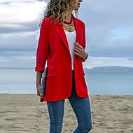 Pentru femei Blazer Rever Peaked Poliester Negru / Roșu-aprins / Bleumarin M / L / XL