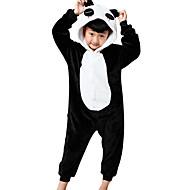 Lasten Kigurumi-pyjama Panda Eläin Pyjamahaalarit Flanelli Fleece Musta Cosplay varten Pojat ja tytöt Animal Sleepwear Sarjakuva Festivaali / loma Puvut
