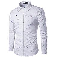 Муж. С принтом Рубашка Горошек Розовый XL