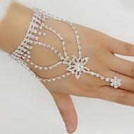 Mulheres Enrole Pulseiras Pulseiras Anéis Strass Prata Chapeada Imitações de Diamante Estrela senhoras Pulseiras Jóias Branco Para Casamento Festa Diário Mascarilha Festa de Noivado Baile de Formatura