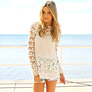 Жен. Блуза Тонкие Однотонный Белый L