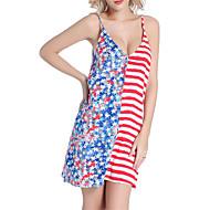 Žene Boho Duga Vezanje sa strane Jednodijelno Kupaći kostimi - Color block Otvorena leđa M L XL Duga