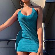Damen Grundlegend Bodycon Hülle Kleid Solide Mini