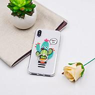 Etui Til Apple iPhone XR / iPhone XS Max Ringholder / Mønster Bakdeksel Planter / Tegneserie Myk TPU til iPhone XS / iPhone XR / iPhone XS Max