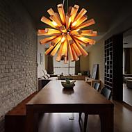 10-Light Pendant Light Downlight Others Wood / Bamboo Wood / Bamboo LED 110-120V / 220-240V Warm White Bulb Included / G9
