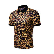 Herre - Leopard Polo Hvid XL