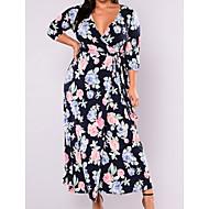 Mujer Básico Vaina Vestido Floral Maxi