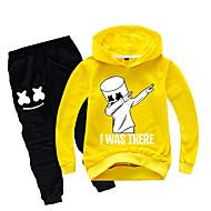 cheap -Kids Boys' Active Cartoon Long Sleeve Cotton Clothing Set Yellow