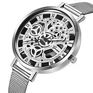 Mujer Relojes Quartz Moda Negro Plata Dorado Acero Inoxidable Cuarzo Negro Plata Negro / Color Plata Huecograbado Reloj Casual 1 pieza Analógico Un año Vida de la Batería