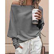 Dame - Ensfarvet Plusstørrelser T-shirt