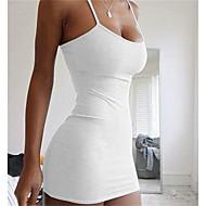 Γυναικεία Μπόχο Εκλεπτυσμένο Γραμμή Α Φόρεμα - Μονόχρωμο Μίνι