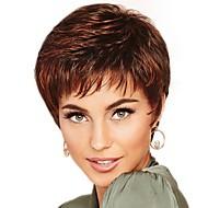 Парики из искусственных волос / Чёлки Кудрявый Стиль Свободная часть Без шапочки-основы Парик Коричневый Brown / Burgundy Искусственные волосы 12 дюймовый Жен. Модный дизайн / Женский / синтетический