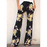 Femme Basique Chino Pantalon - Fleur Jaune