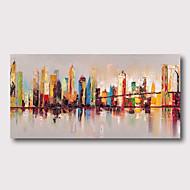 저렴한 -항으로 그린 유화 손으로 그린 - 추상적인 경치 콘템포라리 우아한 내부 프레임 포함 / 뻗어있는 캔버스