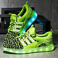 בנים נעליים בד אביב / סתיו נוחות / נעליים זוהרות נעלי אתלטיקה LED ל ירוק / כחול ים / אדום / גומי תרמופלסטי TPR