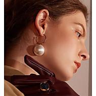 Dames Druppel oorbellen Ring oorbellen Oorbel Bal Stijlvol Eenvoudig Vintage Europees Imitatieparel oorbellen Sieraden Gouden Voor Feest Lahja Dagelijks Toneel Werk 1 paar