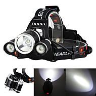 billige -Boruit® RJ-3000 Hodelykter Frontlys til sykkel 3000/5000 lm LED LED 3 emittere 4.0 lys tilstand med lader Oppladbar Lommelykt Camping / Vandring / Grotte Udforskning Reise / Aluminiumslegering