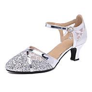 저렴한 -여성용 댄스 신발 Synthetics 모던 슈즈 힐 큐반 힐 주문제작 가능 골드 / 블랙 / 실버 / 성능