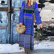 Femme Maxi Balançoire Robe Bloc de Couleur Violet Orange Bleu S M L Manches Longues