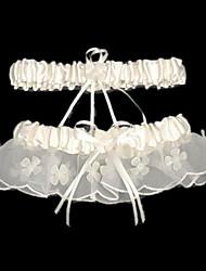 Garter Satin Beading Ribbon White