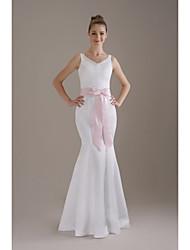 fête de mariage en satin / soirée vêtements de soirée avec strass bow style classique élégant