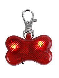 Cat / Dog Tag LED Lights / Strobe/Flashing Red Plastic