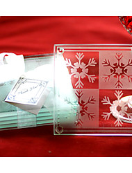 coasters floco de neve (conjunto de 2)