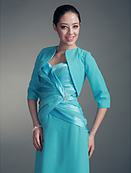 cheap -Half Sleeve Polyester Party / Evening Women's Wrap With Embroidery Coats / Jackets