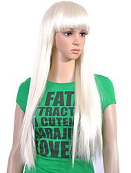 billige -Syntetiske parykker Lige / Klassisk Stil Lågløs Paryk Syntetisk hår 26 inch Dame Paryk