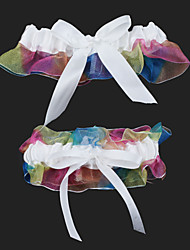 cheap -Organza Wedding Garter with Bowknot Wedding AccessoriesClassic Elegant Style