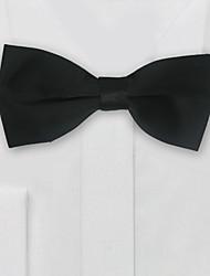 Mænds fest / aften bryllupsformet sort solid polyester slips