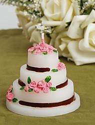 Недорогие -Роза торт свечи (набор из 4)