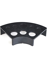 cheap -Fan Shape Black Plastic Ink Cup Holder