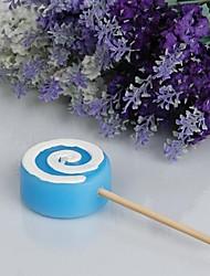 abordables -belle lollipop bougie-bleu (lot de 4) faveurs de mariage élégantes