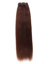 billige -Hårforlængelse af menneskehår Lige Klassisk Yaki Remy hår 20 tommer (ca. 50cm) Lang Hårpåsætning Daglig