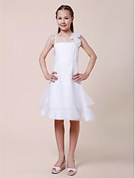 abordables -KARYME - Robe de Jeune Fille d'Honneur Satin Stretch