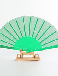 Недорогие -Шелк Вентиляторы и зонтики-# Пьеса / Установить Веера Сад Классика Зеленый 42 см x 23 см x 1 см 2,4 см x 23 см x 1 см