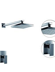 abordables -Robinet de douche - Moderne Chrome Douche seulement Soupape céramique