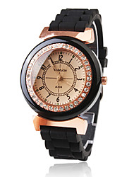 cheap -Women's Quartz Wrist Watch Japanese Casual Watch Plastic Band Sparkle Dress Watch Fashion Black