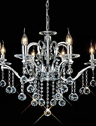 cheap -QINGMING® Candle-style Chandeliers Uplight - Crystal, 110-120V / 220-240V Bulb Not Included / 50-60㎡