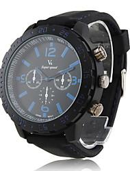 baratos -Relógio de Movimento PC com bracelete de silicone