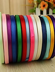 cheap -Creative Solid Color Ribbon Satin Wedding Ribbons Piece/Set Satin Ribbon Unique Wedding Décor Decorate favor holder Decorate gift box